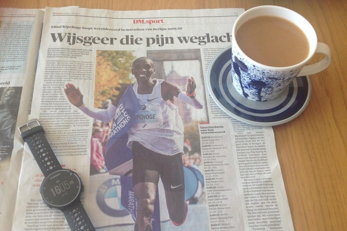 Marathonpraat – Hoe Eliud Kipchoge het wereldrecord aan flardenliep